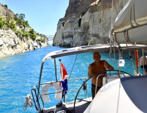 """Kanaal van Korinthe bijzondere """"vaarweg"""" op de Peloponnesos"""