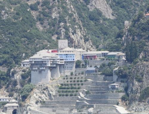 Porto Koufos  baai voor oversteek naar Mount Athos