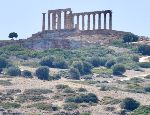 Kea, Vourkári , Kaap Sounion met Tempel van Poseidon en baai Agios Nikolaos